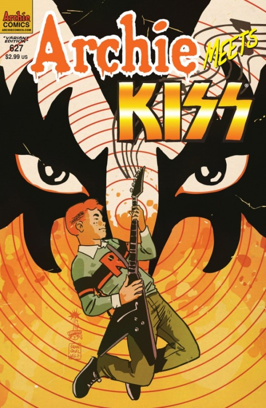 Archie Meets KISS Variant by Francesco Francavilla Full Cover