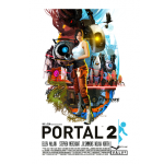 Valves Portal 2 70s Style Poster