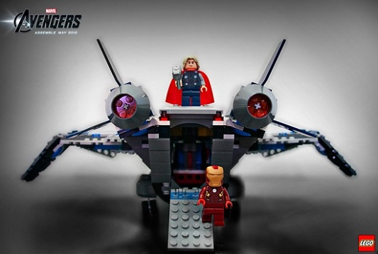 Quinjet Arial Battle Reverse Angle