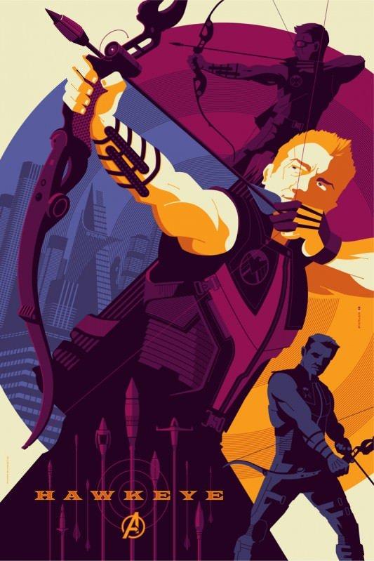 Avengers Hawkeye Poster
