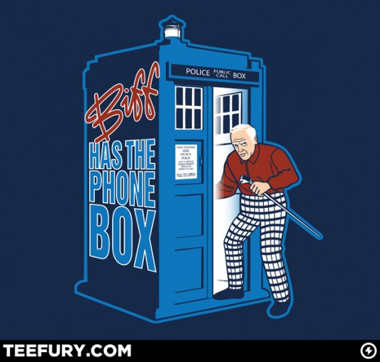 geek gear doctor whobttf �biff has the phone box� shirt
