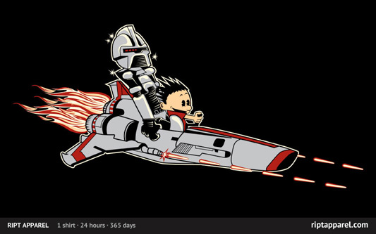 Battlestar Galactica Calvin and Hobbes Holy Frak