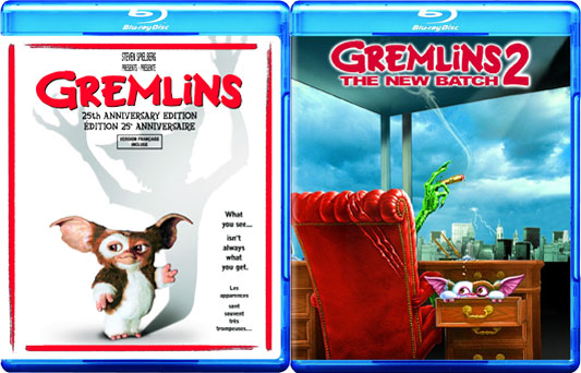 Gremlins and Gremlins 2: The New Batch blu-rays