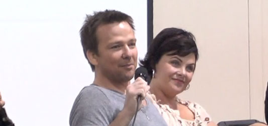 Sean Patrick Flanery and Sherilyn Fenn at Motor City Comic Con 2012