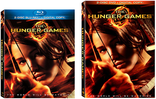 The Hunger Games DVD and Blu-ray box art