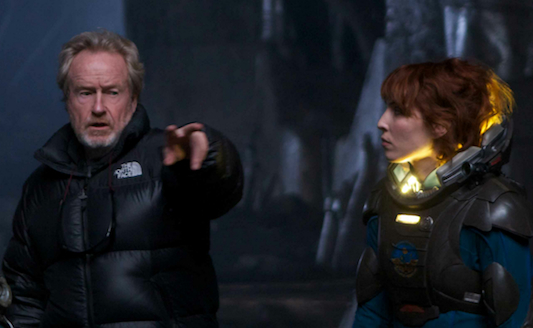 Prometheus Ridley Scott with Noomi Rapace