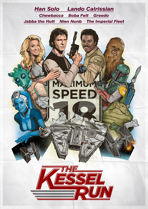 Star Wars Kessel Run by Old Red Jalopy