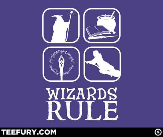 Lord Of The Rings Harry Potter Wizards Rule Shirt