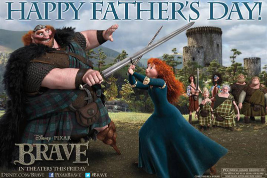 Happy Father's Day From Disney's Brave