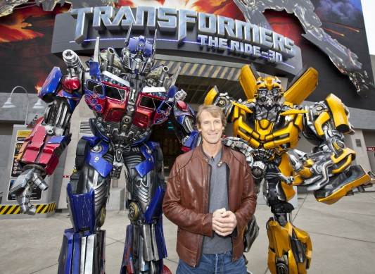 Michael Bay at Universal Studios Hollywood's Transformers The Ride 3-D