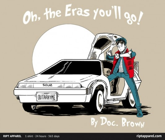Back To The Future Dr. Seuss Oh, The Eras You'll Go! Shirt