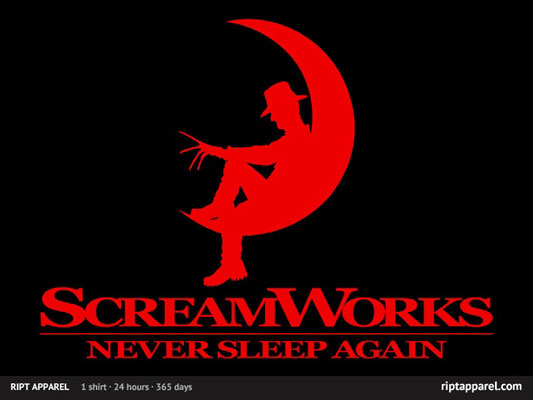 A Nightmare on Elm Street ScreamWorks shirt