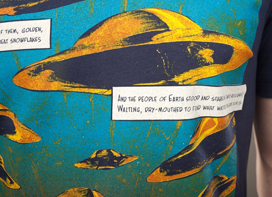 Neil Gaiman The Day The Saucers Came Threadless Comics-On Tees Vol. 6
