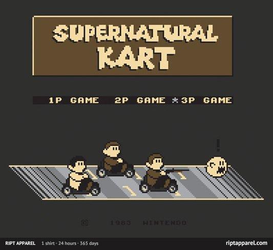 Supernatural Mario Kart Supernatural Kart Shirt