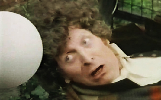 A shot of Tom Baker from the original filming of Doctor Who: Shada