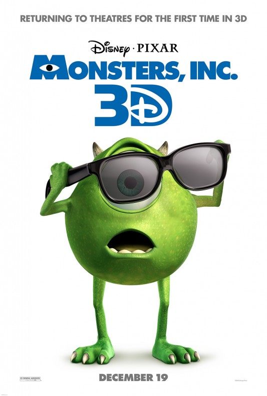 Monsters Inc. 3D poster