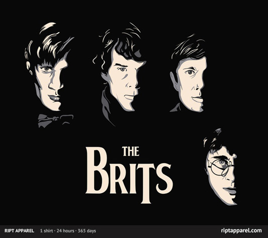 The Brits Harry Potter Sherlock Doctor Who Shirt