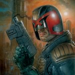 Dredd 3D hand-drawn cover art