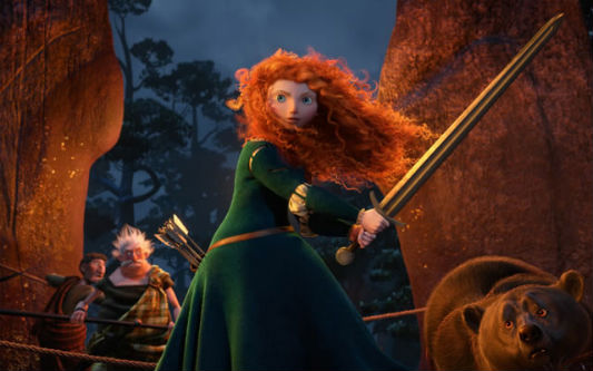 Merida fights to protect her mother