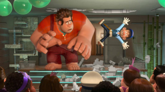 """Wreck-It Ralph"" characters Ralph and Felix"
