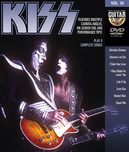 learn to play 8 kiss songs with this guitar play along dvd. Black Bedroom Furniture Sets. Home Design Ideas