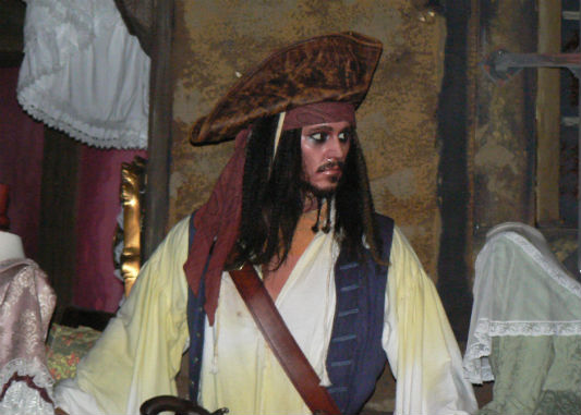 Jack Sparrow of Pirates of the Caribbean, at least in audio-animatronic form, appeared in my presentation.