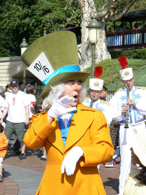 The charismatic, always-happy Mad Hatter pops up in my presentation as well.