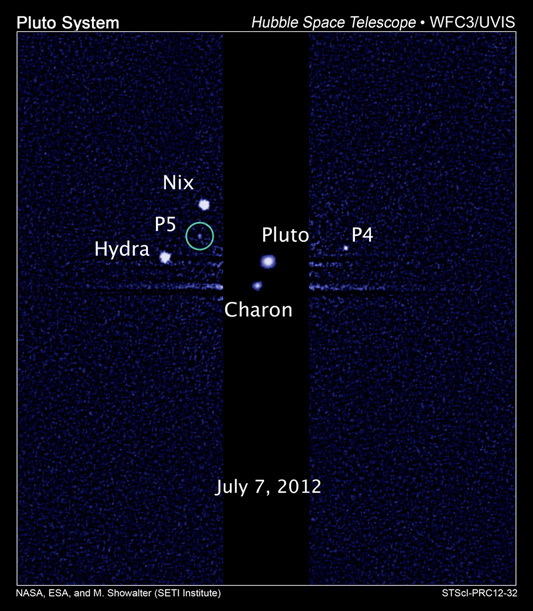 Hubble Discovers a Fifth Moon Orbiting Pluto - P5