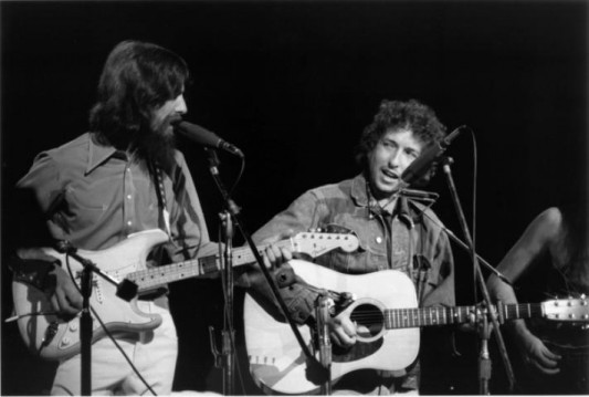 George Harrison and Bob Dylan