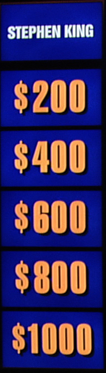 Jeopardy! Stephen King category