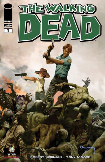 The Walking Dead #1 variant cover by Arthur Suydam