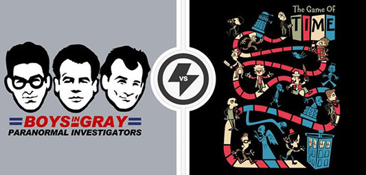 Twofury: Ghostbusters & Doctor Who Shirts