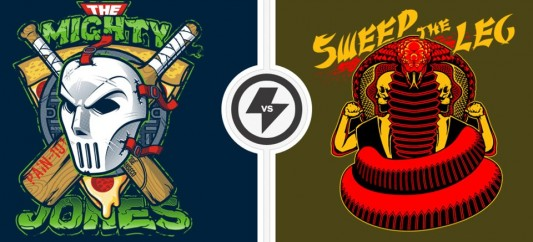 Twofury shirts: TMNT vs. The Karate Kid