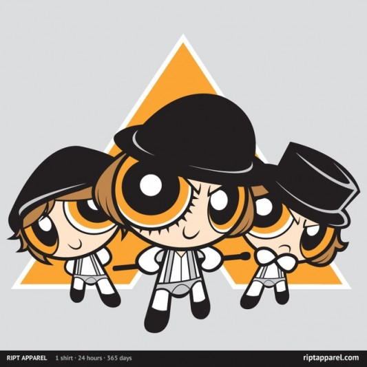 A Clockwork Orange & Powerpuff Girls The Ultraviolence Boys Shirt