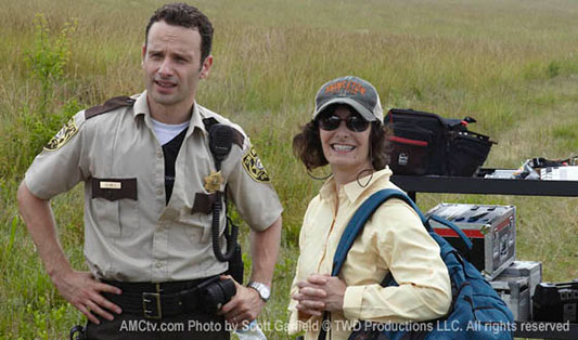 Andrew Lincoln & Gale Anne Hurd The Walking Dead - image courtesy of AMC