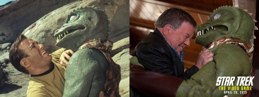 Kirk vs Gorn Scene Comparison