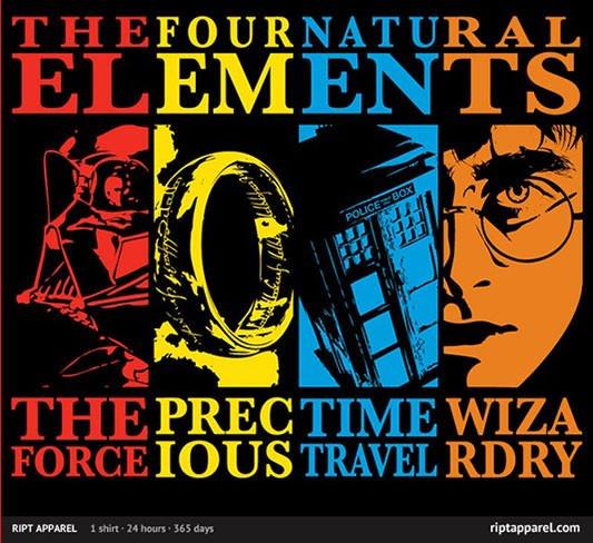 Star Wars, LoTR, Doctor Who & Harry Potter Mash-Up Shirt
