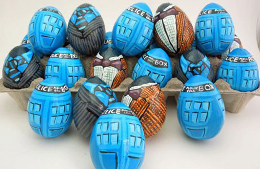 Doctor Who Themed Easter Eggs