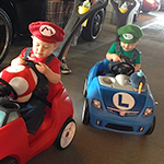Mario Kart children cosplay