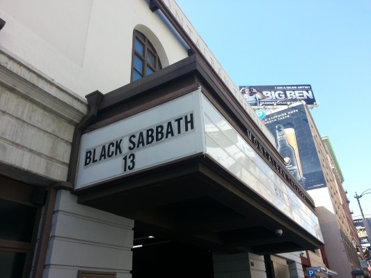 Black Sabbath 13 marquee - photo by Geeks of Doom