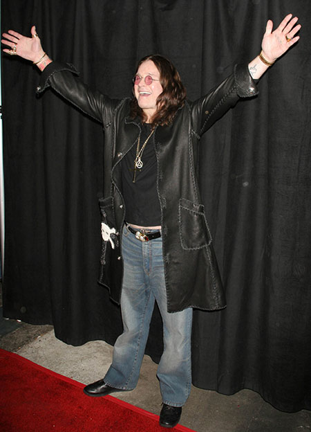 Ozzy Osbourne at the Opening reception for Black Sabbath Resurrection