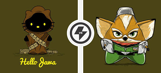 Gear Gear: TwoFury Shirts: Star Wars/Hello Kitty vs Star Fox