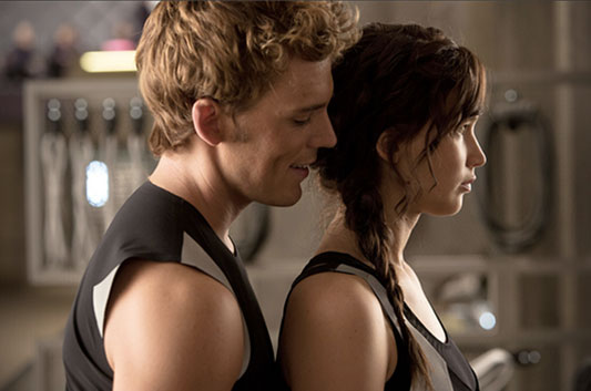 The Hunger Games: Catching Fire - Sam Claflin & Jennifer Lawrence