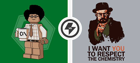TwoFury Shirts: The IT Crowd vs Breaking Bad