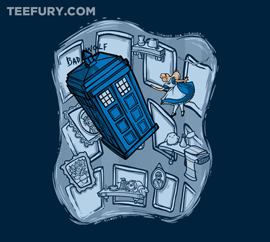 Doctor Who and Alice In Wonderland Falling Shirt