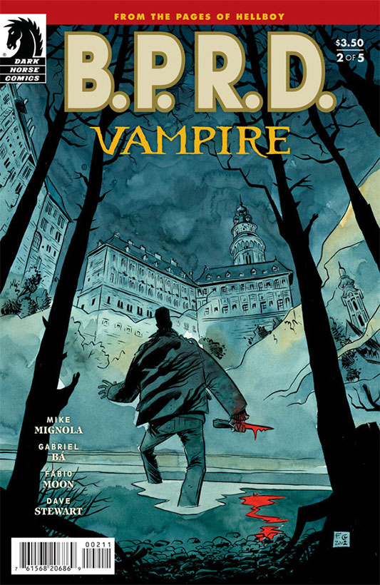 B.P.R.D.: Vampire #2 cover by Fabio Moon