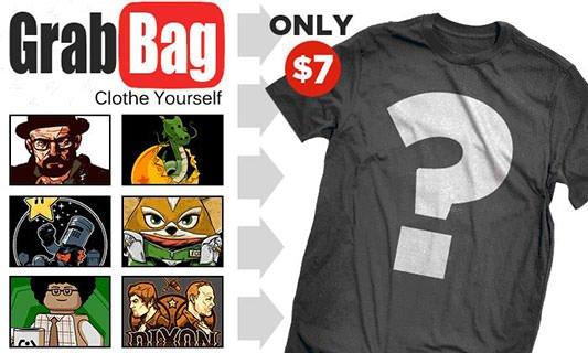 Teefury $7 T-Shirt Grab Bag
