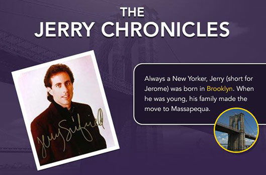 Infographic: Jerry Seinfeld - The Jerry Chronicles