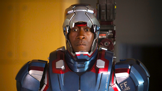 Iron Man 3: Don Cheadle as Iron Patriot