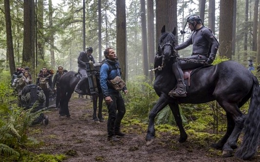 Dawn of the Planet of the Apes on Horseback